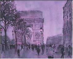 Wayne Roberts - Champs Élysées at dusk