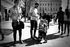 Family sharing - Picture taken in a very first warm day this spring in Warsaw, Poland.