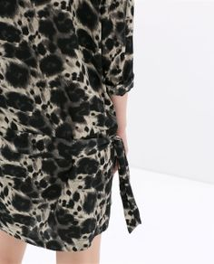 animal skin PRINTED DRESS Zara