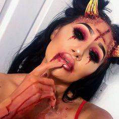 Few close up's of my SATAN look❌ ▪️▪️▪️▪️▪️▪️▪️▪️▪️▪️▪️▪️▪️▪️▪️▪️▪️▪️▪️▪️#sfx #dragmetohell #666 #nottodaysatan #halloween #makeup #glamandgore #udmhalloween #demon #possesion #hell #specialeffects #crazymakeups #mehron #blood #gore #prettyugly #creativemakeup #glitter #undiscovered_muas #halloweenmakeup #fancydress #characterdesign #makeupbyme #shout_outs_makeup #sororitylashes #dollbeauty #darkart #mac #100daysofmakeupchallenge @undiscovered_ukmua @sorority_lashes ❤️