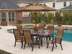 Outdoor Furniture From The Palm Wrought Aluminum Collection By
