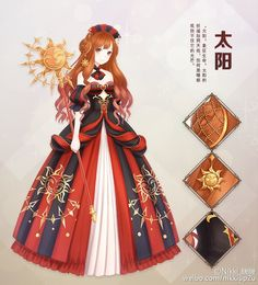 Anime girl | she looks more like the queen of hearts