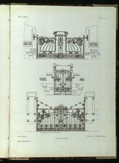 """Tavola n. 72 contenuta nella rivista """"Per l'arte"""",1909, a. I"""