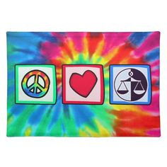 #custom #Lawyer Themed  #gifts #mojo  #placemat #TradeWare -  You will love this groovy tie dye peace, love, lady justice scales attorney law lawyer criminal  design.  Great for gifts!  Available on tee shirts, smart phone cases, mousepads, keychains, posters, cards, electronic covers, computer laptop / notebook sleeves, caps, mugs, and more!  Visit our site for a custom gift case for Samsung Galaxy S3, iphone 5, HTC vivid / Raider 4 G, Kindle Fire, Droid RAZR, or iPad & iPad mini!  Also…