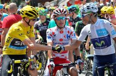 At the start. Froome, Rodriguez and Quintana. Stage 19. Saint-Jean-de-Maurienne to La Toussuire - Les Sybelles.