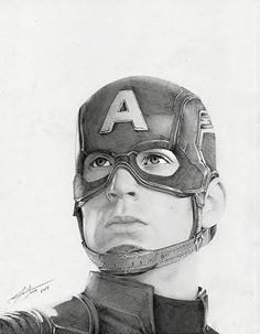 http://jedavu.tumblr.com/post/104191649726/stunning-drawing-by-julio-lucas Captain America art