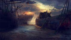 barcos encallados