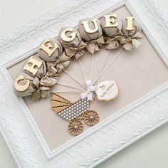 Baby Nursery Decor, Baby Bedroom, Baby Decor, Baby Shower Decorations, Diy Baby Gifts, Baby Crafts, Craft Gifts, Diy And Crafts, Baby Room Pictures