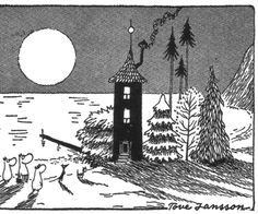 A Moomin drawing by Tove Jansson. Lovely