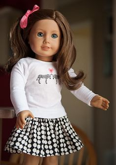 cute American Girl outfit inspiration + link to free zebra graphic