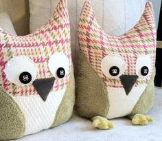 WANT TO MAKE AN OWL FOR MEGAN ... WITH SCRAP FABRIC