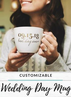 To have and to hold - before your coffee gets cold. So cute! And the perfect gift for new brides looking forward to wedding planning and the big day! #affiliate