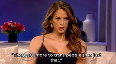 Carerra calmly explained that there are many things she would rather discuss besides her transition. | Trans Women Carmen Carrera And Laverne Cox Handle A Cringeworthy Interview With Katie Couric Flawlessly
