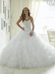 New white quinceanera dresses ball gown 2016 sweetheart neckline ...