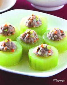 芋泥蒸大黃瓜