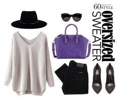 """""""Oversized sweater"""" by itsvanessaxoxo ❤ liked on Polyvore featuring Nudie Jeans Co., Zimmermann, Givenchy, Casadei, Yves Saint Laurent, women's clothing, women's fashion, women, female and woman"""
