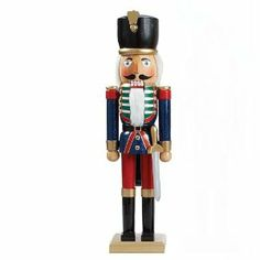 Kurt Adler 20-Inch Soldier with Sword Nutcracker by Kurt Adler. $39.99. Measures 20 inches tall. Wonderfully detailed nutcracker. Composed of wood. This Kurt Adler 20-inch Soldier with Sword Nutcracker is a classic, festive way to add to your holiday décor or nutcracker collection. Dressed in a traditional soldier uniform, this nutcracker stands at attention at about 20 inches, and has a sword hanging at his side.