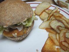 Fish Sandwiches with Wasabi Tartar Sauce and Crispy Potato Strips