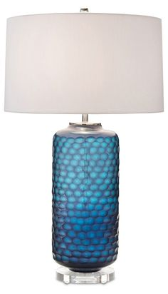 We are crazy for turquoise and teal this market! Honeycomb lamp by John-Richard. #hpmktss
