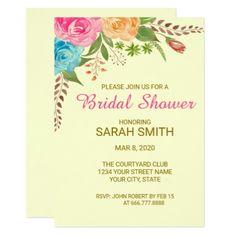 Watercolor Vintage Roses Bridal Shower Invitation - bridal shower wedding marriage party bride idea