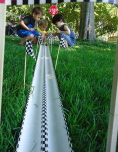 #17. Go for a DIY cars race track.