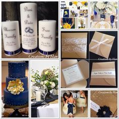 Gold and navy wedding inspiration