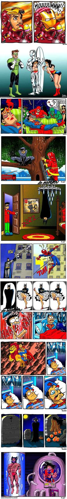Super Heroes fun time - Batman Funny - Funny Batman Meme - - What Super Heroes do in their downtime. The post Super Heroes fun time appeared first on Gag Dad. Marvel Vs, Marvel Dc Comics, Rage Comic, Beste Comics, Univers Dc, Mundo Comic, Dc Memes, Humor Grafico, Geek Culture