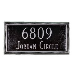 Montague Metal Products Verona Rectangle Address Plaque Finish: Swedish Iron / Silver, Mounting: Lawn