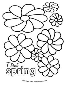 Flowers Free Coloring Pages for Kids - Printable Colouring Sheets