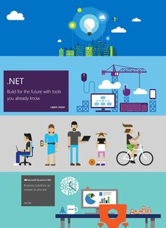 Microsoft Illustrations by Dan Schlitzkus, via Behance
