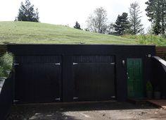 Underground Garage With Black Door
