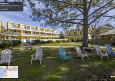 Google Business View Showing Chairs On Lawn At Hotel In Oriental Nc