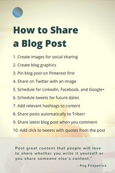 How to share a blog post