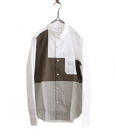 BLACK&BLUE パネルスウィッチシャツ(WHITE) - FLORAISON