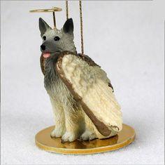 Norwegian Elkhound Guardian Angel Dog Figurine