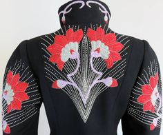 1980's CHLOE / Karl Lagerfeld hand-embroidered coat dress | From a collection of rare vintage evening dresses at https://www.1stdibs.com/fashion/clothing/evening-dresses/