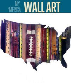 Vintage American Flag Wall Art