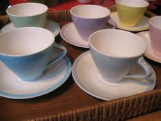 Koffieservies Boch Pastel Expo `58 model   Sold Items   passipasse