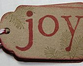 Joy Pine Spray Christmas Gift Tags
