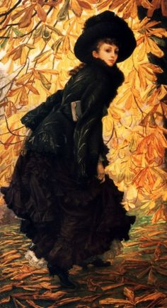 James Tissot, October, 1877, oil on canvas 108.7 x 216 cm, Montreal Museum of Arts