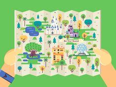 Disney World / Map by Dmitry Stolz