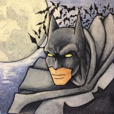 Items similar to Batman Watercolor Tile on Etsy Indie Brands, Watercolor Paintings, My Etsy Shop, My Arts, Batman, Superhero, Awesome, Art Work, Creative