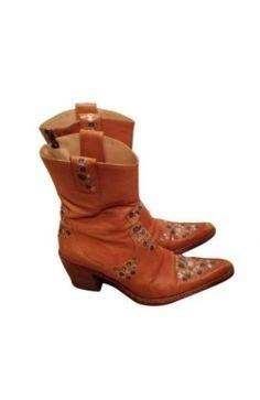 Free Lance Boots #Santiag Cuir Marron Orange 36,5 #kollas #kollasshop #leather #boots