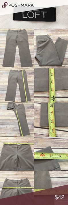Sz 12 LOFT Julie Ankle Cropped Stretch Slim Pants • Measurements are in photos  • Material tag is in photos • Normal wash wear, no flaws • Slim leg  • Stretch  • Cropped Ankle Length  A2/60  Thank you for shopping my closet! LOFT Pants Ankle & Cropped