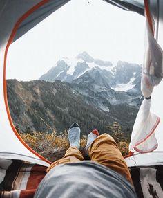 Beautiful tent view.