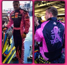 Jeffrey Earnhardt's firesuit for Breast Cancer Awareness Jeffrey Earnhardt, Breast Cancer Awareness, Nascar, Motorcycle Jacket, Racing, Jackets, Fashion, Running, Down Jackets
