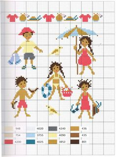 Beach people x-stitch