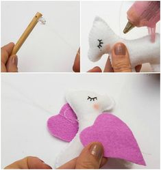 This is how to make an unicorn baby mobile for nursery + free pattern Paper Crafts For Kids, Baby Crafts, Felt Crafts, Cool Baby, Hair Bow Hanger, Diy Unicorn, Unicorn Mobile, Mobiles, Baby Mobile Felt