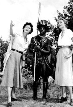 Grace Kelly and Ava Gardner. Mogambo, 1953.