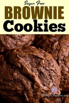 This could be the perfect recipe for anyone with a craving for chocolate. The Recipe for yummy Sugar Free Brownie Cookies. Diabetic Cookies, Diabetic Desserts, Sugar Free Desserts, Sugar Free Recipes, Diabetic Recipes, Diabetic Snacks, Sugar Detox Desserts, Cookies For Diabetics, Healthy Diabetic Diet